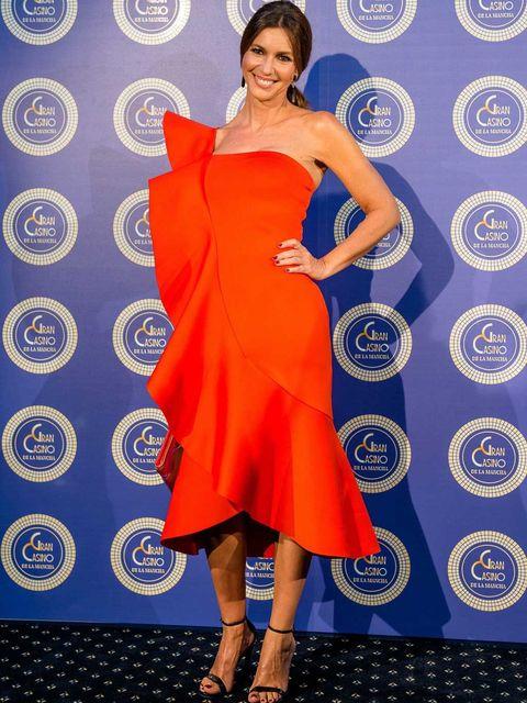 Clothing, Dress, Shoulder, Human leg, High heels, Style, Electric blue, One-piece garment, Formal wear, Fashion accessory,