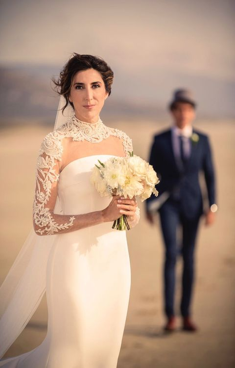 Clothing, Human, Petal, Trousers, Shoulder, Bridal clothing, Photograph, Joint, Standing, Outerwear,