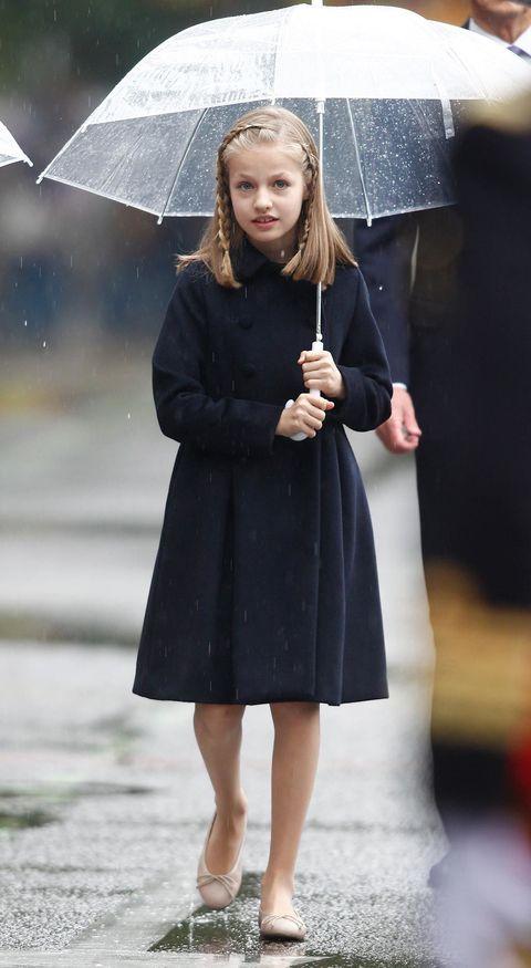 Umbrella, Street fashion, Clothing, Fashion, Outerwear, Coat, Footwear, Fashion accessory, Overcoat, Rain,