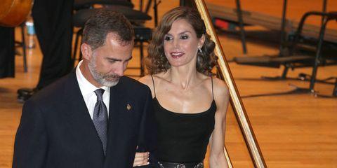 Los Reyes Felipe y Letizia en el el tradicional concierto previo a los galardones Princesa de Asturias