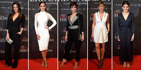 Clothing, Dress, Flooring, Shoulder, Formal wear, Style, Waist, Carpet, Fashion, Beauty,