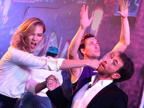 Karlie Kloss y Pablo Motos en 'El Hormiguero'