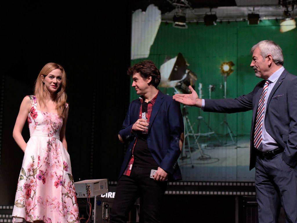 Marta Hazas, Javier Veiga y Carlos Sobera