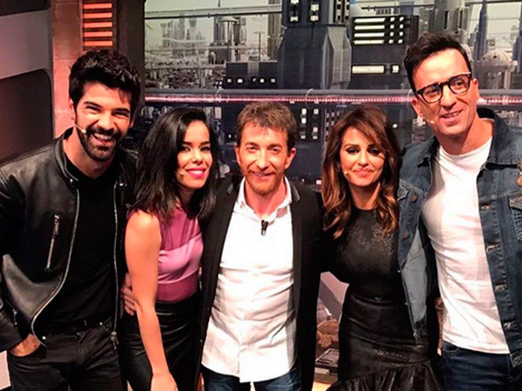 Miguel Ángel Muñoz, Beatriz Luengo, Pablo Motos, Mónica Cruz y Pablo Puyol