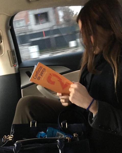 Bag, Public transport, Passenger, Long hair, Automotive window part, Bracelet, Nail, Baggage, Reading,