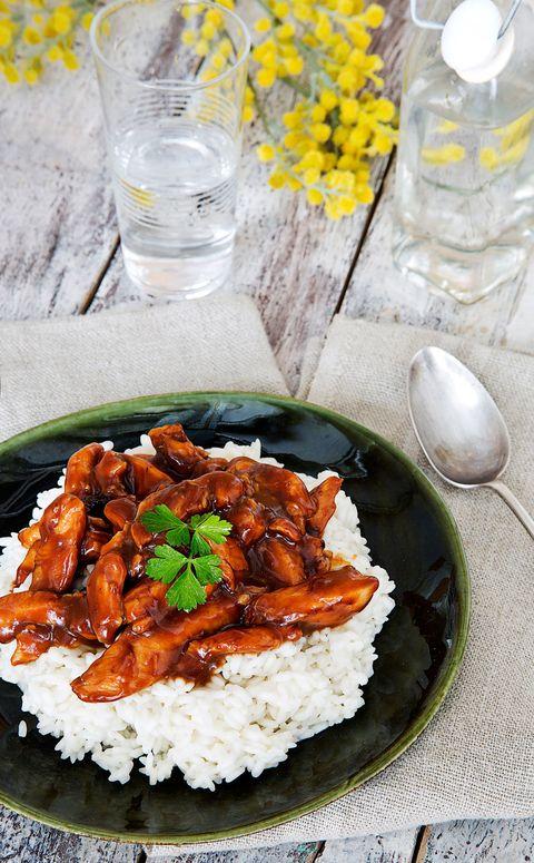 Pollo con salsa de jengibre