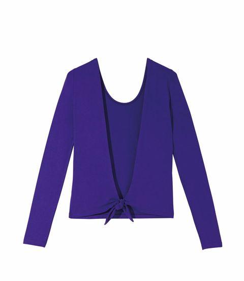 Blue, Sleeve, Collar, Shoulder, Textile, Purple, Electric blue, Violet, Pattern, Cobalt blue,