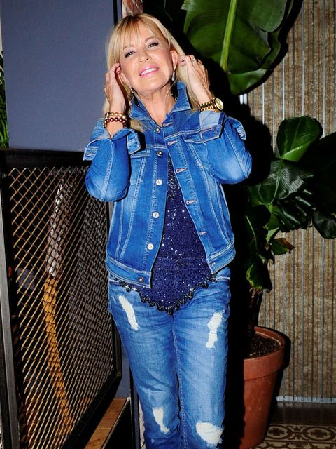 Denim, Jeans, Outerwear, Flowerpot, Electric blue, Majorelle blue, Jacket, Houseplant, Cobalt blue, Blond,