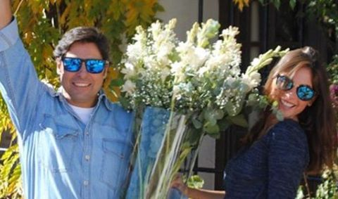 Eyewear, Vision care, Smile, Glasses, Shirt, Bouquet, Sunglasses, Petal, Flower, Floristry,