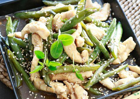 receta Pollo con judías verdes