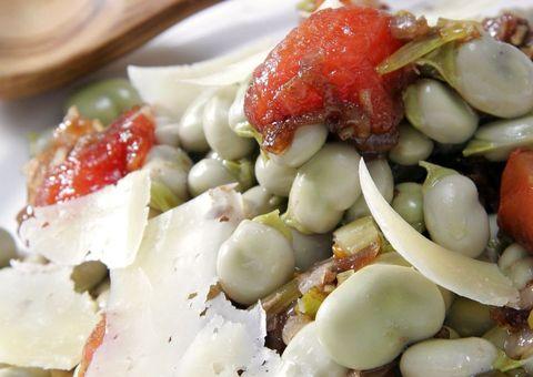 receta Habas con tomatitos cherry