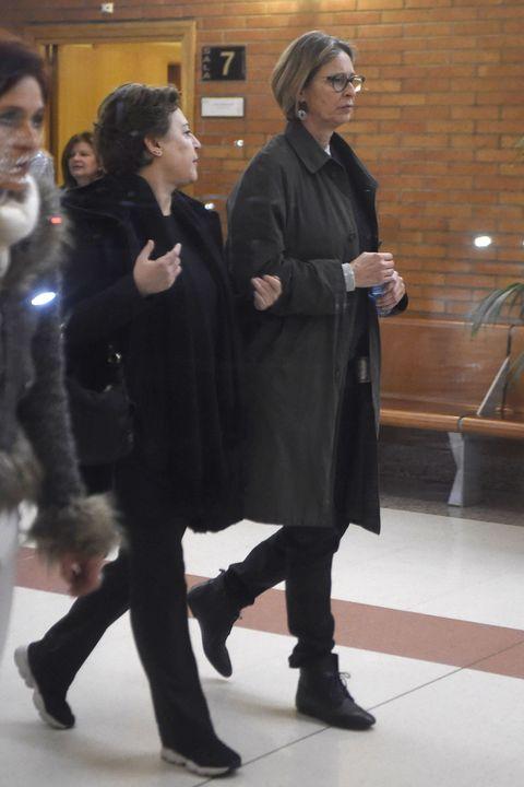 Paola Dominguin durante el entierro de Bimba Bose en Madrid  24/01/2017