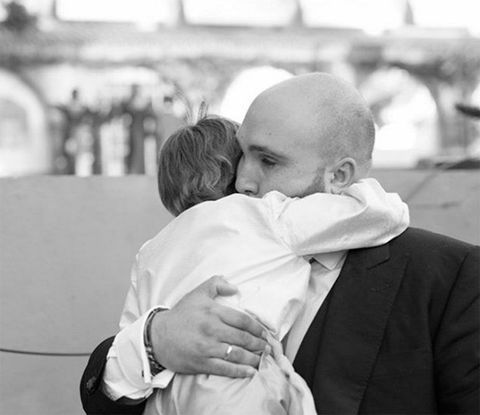 Child, Comfort, Interaction, Love, Kiss, Monochrome, Monochrome photography, Toddler, Hug, Black-and-white,