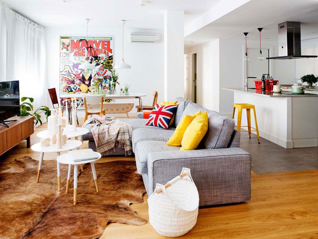 decoración acogedor sofá salón