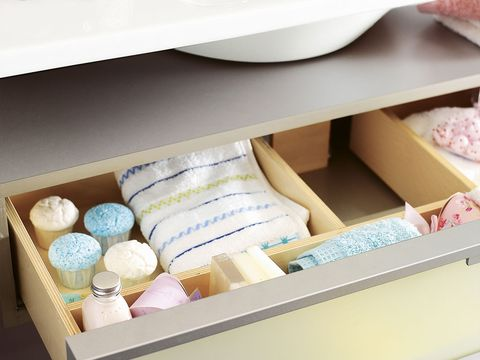 Shelving, Peach, Shelf, Cabinetry, Plywood, Cardboard,