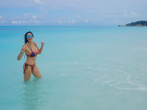Body of water, Swimwear, Brassiere, Swimsuit top, Bikini, Swimsuit bottom, Summer, Aqua, Undergarment, Lingerie,