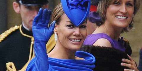 Smile, Event, Happy, Electric blue, Facial expression, Cobalt blue, Headgear, Costume accessory, Tooth, Celebrating,