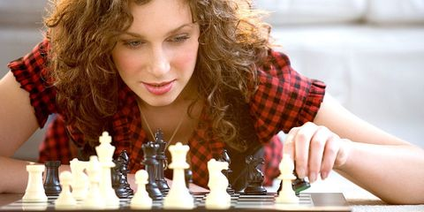 Nose, Indoor games and sports, Chessboard, Chess, Hairstyle, Chin, Board game, Recreation, Tabletop game, Games,