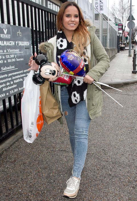 Jeans, Toy, Denim, Ball, Street, Football, Soccer ball, Street fashion, Street light, Sidewalk,