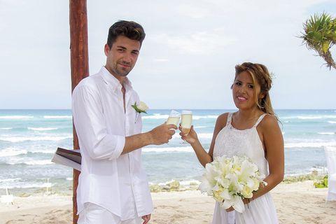 isa pantoja y alejandro albalá, el día de su boda