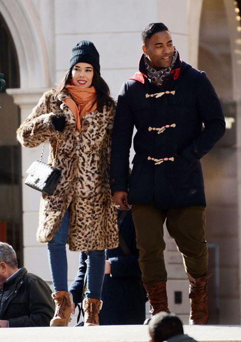 Winter, Leg, Trousers, Outerwear, Style, Fashion accessory, Street fashion, Jacket, Boot, Headgear,