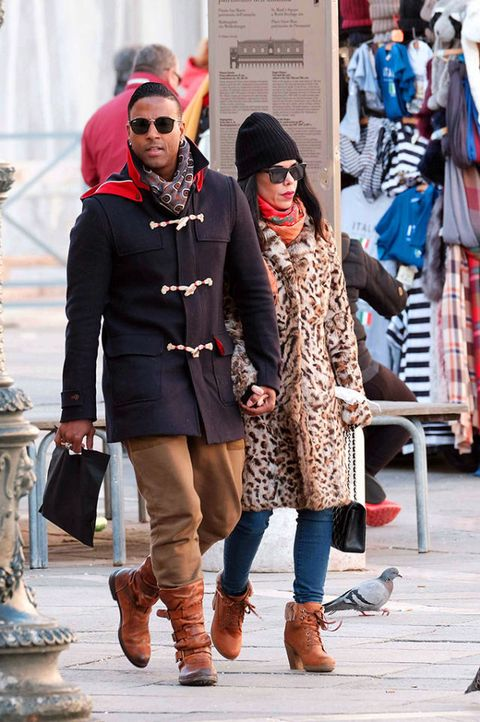 Clothing, Eyewear, Trousers, Coat, Textile, Outerwear, Winter, Fashion accessory, Boot, Hat,