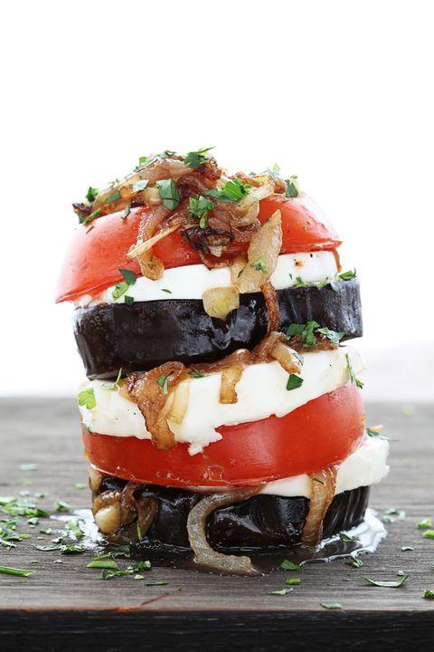 receta Sandwich de berenjena, tomate y queso