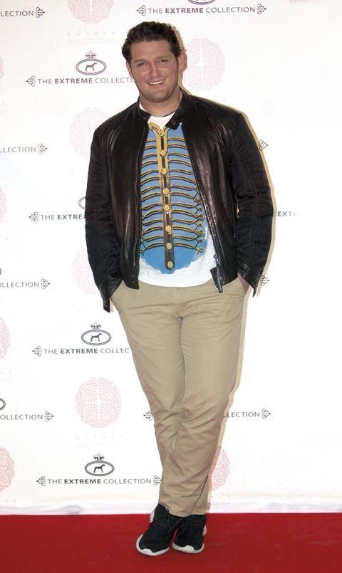 Clothing, Fashion, Outerwear, Footwear, Jacket, Leather, Leather jacket, Suit, Carpet, Shoe,