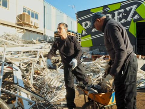 Workwear, Demolition, Earthquake, Outerwear, Geological phenomenon, Scrap,