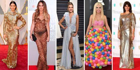 Clothing, Dress, Red carpet, Carpet, Fashion, Gown, Flooring, Fashion model, Formal wear, Costume design,