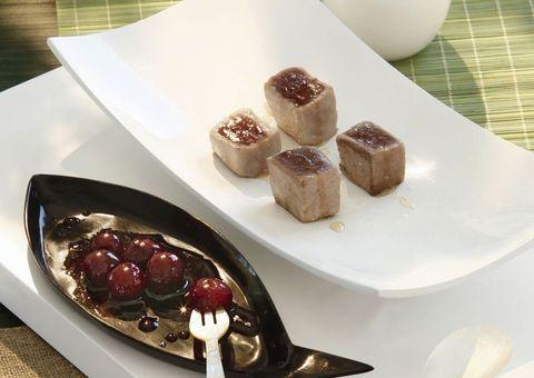 receta tacos de atún con cerezas