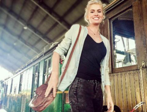 Bag, Fashion accessory, Travel, Luggage and bags, Street fashion, Shoulder bag, Denim, Waist, Railway, Blond,