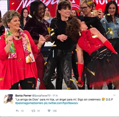 Los famosos lloran la muerte de Paloma Gómez Borrero