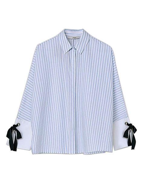 Product, Blue, Collar, Dress shirt, Sleeve, Textile, White, Bag, Pattern, Fashion,
