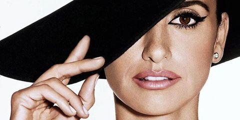 Face, Skin, Lip, Beauty, Eyebrow, Chin, Head, Nose, Hat, Model,