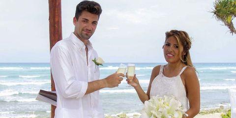 Honeymoon, Vacation, Wedding, Ceremony, Event, Marriage, Wedding dress, Dress, Gesture, Bride,