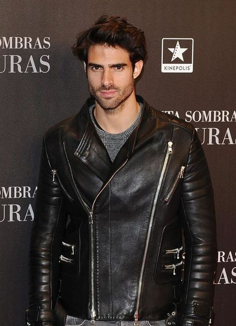 Leather, Clothing, Jacket, Leather jacket, Outerwear, Fashion, Textile, Cool, Model, Facial hair,
