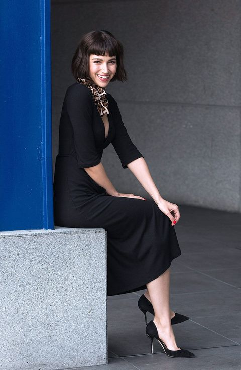 Black, Clothing, Shoulder, Little black dress, Leg, Fashion model, Dress, Fashion, Human leg, Beauty,