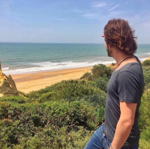 Coastal and oceanic landforms, Denim, Jeans, People in nature, Summer, Ocean, Coast, Vacation, Beach, Shore,