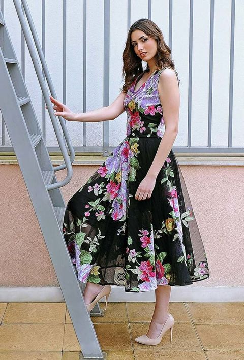 Clothing, Shoulder, Joint, Dress, Pink, One-piece garment, Street fashion, Day dress, Fashion, Pattern,