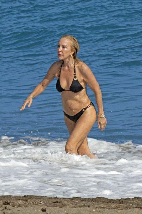 Bikini, Swimwear, Clothing, Beauty, Vacation, Undergarment, Fun, Beach, Leg, Photo shoot,