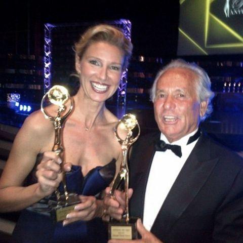 Award, Trophy, Event, Award ceremony, Smile, Fashion accessory, Championship, World,