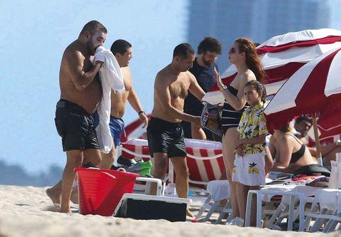 Leg, Fun, Human body, board short, People on beach, Summer, Shorts, Trunks, Umbrella, Barechested,