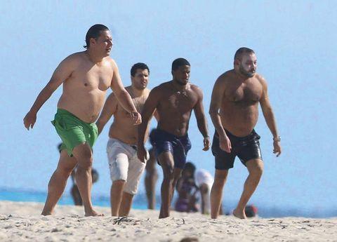 People on beach, Barechested, Fun, Vacation, Beach, Summer, board short, Muscle, Spring break, Leisure,