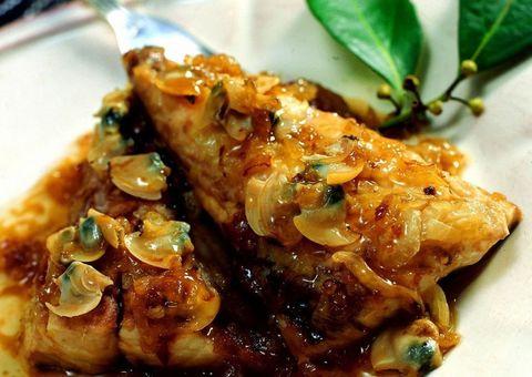 receta Palometa con salsa verde de jerez