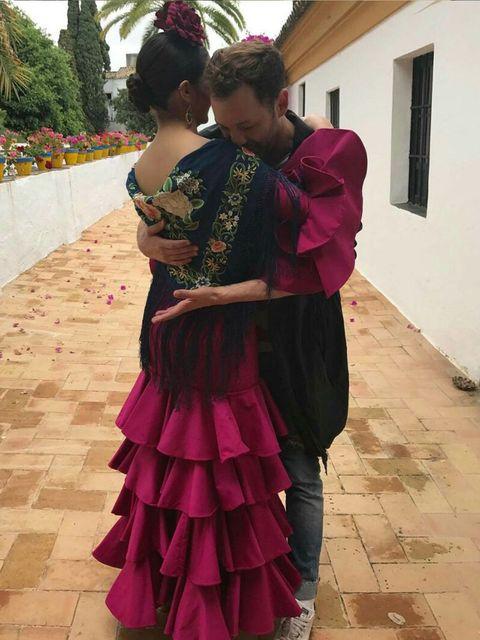 Pink, Magenta, Shoulder, Dress, Textile, Event, Tradition, Dance, Flamenco, Dancer,
