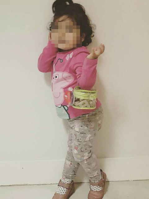Pink, Child, Clothing, Toddler, Pajamas, Standing, Outerwear, Sleeve, Leggings,