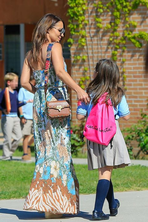 Fashion, Street fashion, Footwear, Dress, Fun, Interaction, Shoulder, Child, Summer, Long hair,