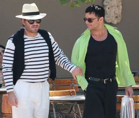 Ricky Martin rodando la película sobre Versace