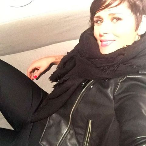 Clothing, Jacket, Sleeve, Textile, Outerwear, Facial expression, Black hair, Fashion, Cool, Beauty,